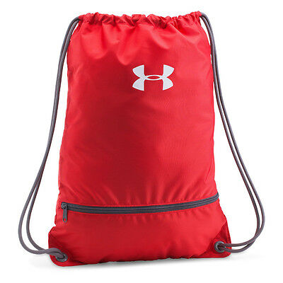 484627f8420d UNDER ARMOUR NEW Mens Red Team Sackpack BNWT - £9.99