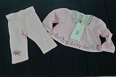 New Kenzo baby girl pink long sleeve top wit leggings size 6 months, 67 cm