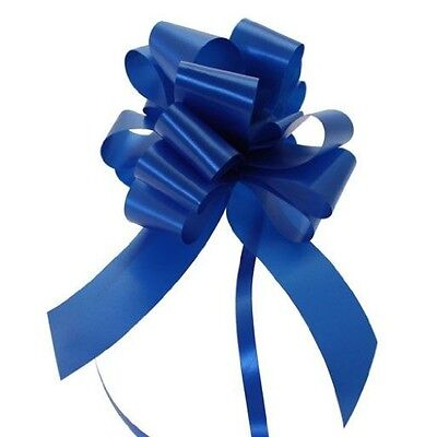 30mm Poly Ribbon Pull Bow- Navy Blue - Choose Amount Required