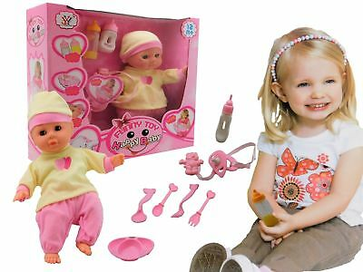 New Born Soft Body Baby Doll Toy with Dummy And Feeding Accessories