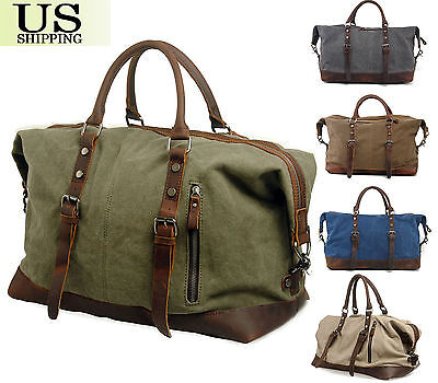 Travel Canvas Journey Sports Shoulder Luggage Weekend Overnight Duffel Gym Bag
