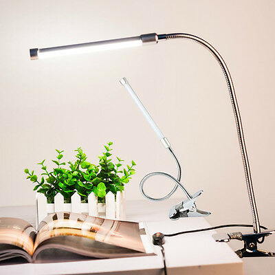 Clip Adjustable USB LED Light Reading Lamp Eye Protection Desk Lamp Silver