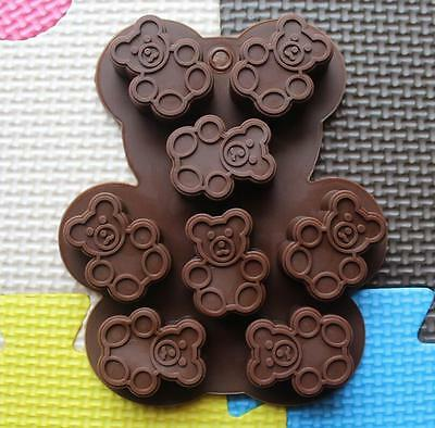8 Cavity Silicone Gummy Big Bear Chocolate Mold Candy Maker Ice Jelly Moulds