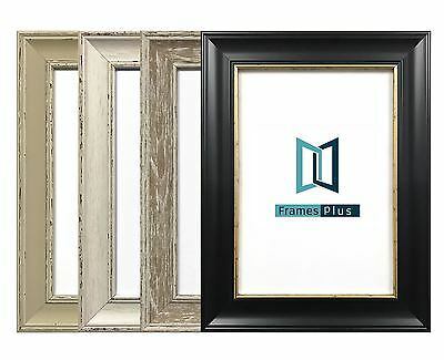 Ornate Shabby Chic Picture frame Photo frame Poster frame Black White Grey