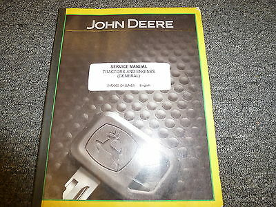 John Deere Tractor & Engine General Info Shop Tools Service Repair Manual SM2000