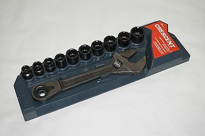 Crescent Pass thru adjustable Wrench & Socket Set 3/8 drive