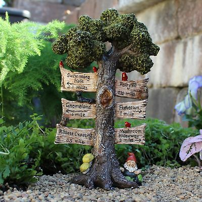 Miniature Dollhouse FAIRY GARDEN - The Sign Says - Accessories