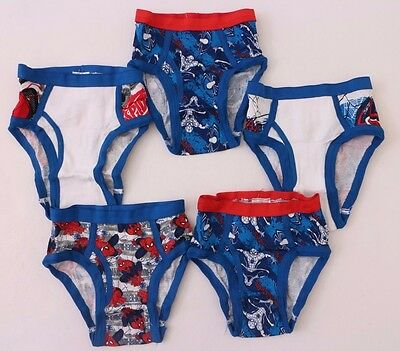 Marvel The Ultimate Spider-Man Kids Boys Briefs 5 Pairs Set Size 4 NWT