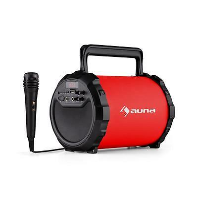 Auna Dr. Bang! Red 2.1 Bluetooth Speaker Usb Sd Aux Karaoke Microphone Included