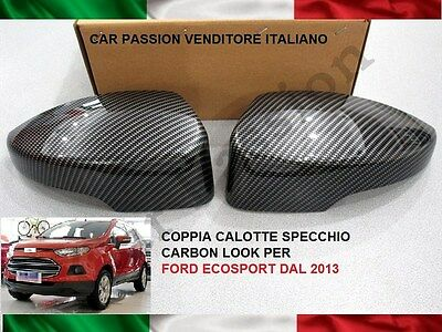 CALOTTE SPECCHIO CARBON LOOK FORD ECOSPORT 2012> retrovisori MIRROR COVER DX SX