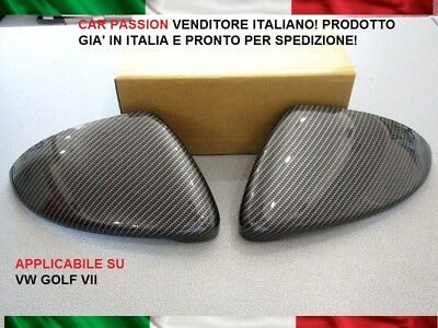 CALOTTE SPECCHIO CARBON LOOK VOLKSWAGEN GOLF 7 VII retrovisori MIRROR COVER