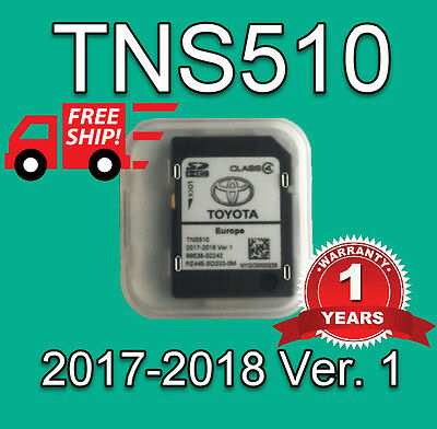 2017 Toyota Tns510 Sd Card Europe Maps Avensis,auris,aygo,corolla,corolla More