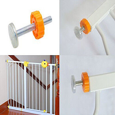 4PCS Pressure Mounted Baby Gates Threaded Spindle Rods Walk Thru Gates Screw