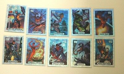 1994 Marvel Masterpiece Holofoil Insert Set