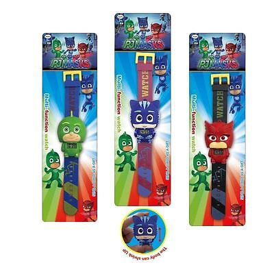 Fun PJ Masks Catboy Owlette Gekko Digital Set Wrist Watch Kids Boy Girl Toy Gift