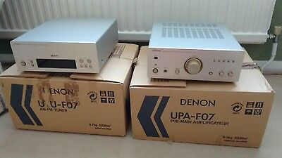 Denon UPA-F07 Integrated Amp and UTU- F07 Tuner in original packaging.