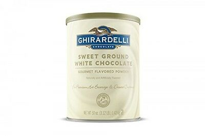 Ghirardelli Chocolate Sweet Ground White Chocolate Flavor Beverage Mix, 50Ounce