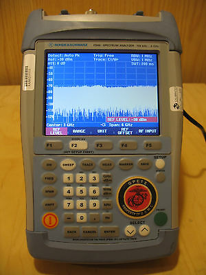 Rohde & Schwarz FSH6 100kHz-6GHz Handheld Spectrum Analyzer w/accessories