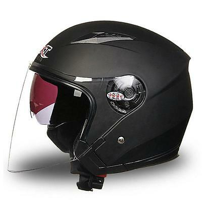 2017 Motorcycle Moto Bike 3/4 Open Face Half Helmet Full Shield Visor Helmet
