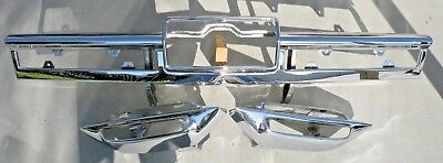 X Cadillac New Triple Plated Chrome Rear Back Bumper 1966 66 Oem