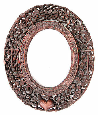 Antique 19th Century Anglo Indian Carved Rosewood Frame Singapore Malaysia India