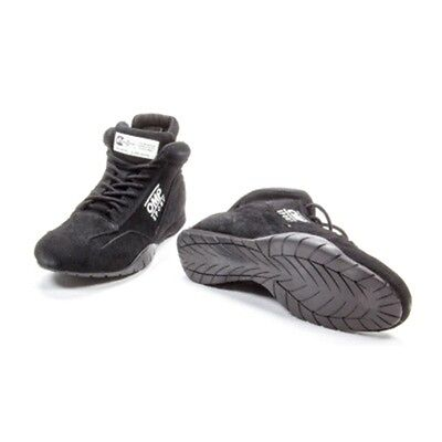 OMP OS 50 Mid-Top Driving Shoes - Suede Outer - Black - SFI-3.3/5 - All Sizes