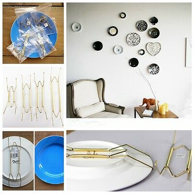 Plate Spring Wall Hanger Holder Hanging Wire For Various Sizes Art Decoration