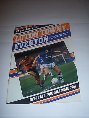 1985 FA CUP SEMI-FINAL - EVERTON v LUTON TOWN - FOOTBALL PROGRAMME