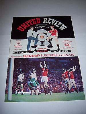 MANCHESTER UNITED v QPR 1988/89 - FA CUP 3RD ROUND - VOL50 #15 - PROGRAMME