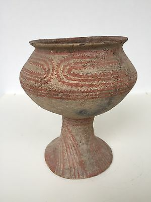 Ancient Ban Chiang Terracotta Drinking Cup or Chalice circa 3000 BC with COA