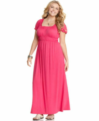 JUNIORS\' PLUS SIZE Wrapper Maxi Dress, Girl\'s, Size: 3XL, Pink ...