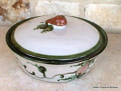 John B. Taylor Harvest Pear Louisville Pottery Round Covered Casserole