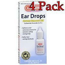 Leader Ear Wax Remover Drops, 15ml, 4 Pack 023558076501S217