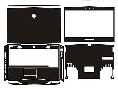 Laptop Protector Leather Skin Stickers For Dell Alienware M14X R1 R2 2012