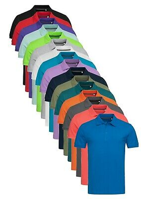 Mens Stedmans Cotton Summer Weight Polo Sports Shirt