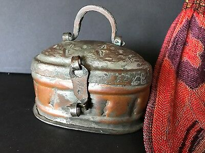 Old Turkish Copper Hammam (Turkish Bath) Soap Carrier …beautiful collection item