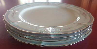 "Noritake Ivory China 7293 Rothschild 10 1/2"" Four Dinner Plates Mint Condition"