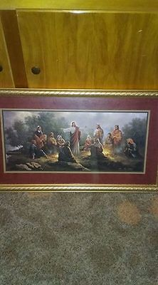 """Retired Home Interior The Greatest Teacher Picture 30"""" W X 17"""" H Good Condition"""