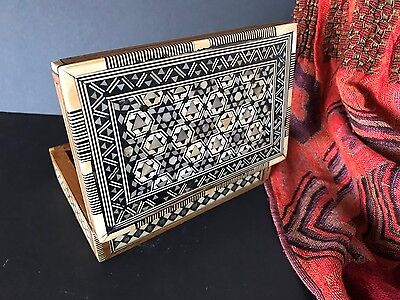 Old Middle Eastern Inlaid Box …beautiful collectors and display piece
