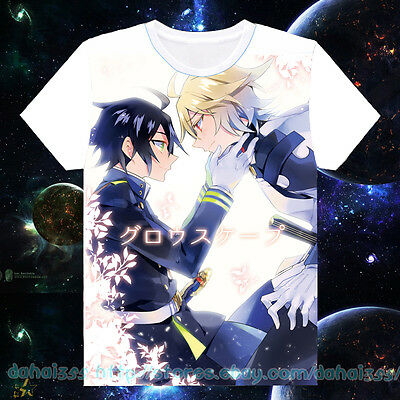 Anime Seraph of the End Cosplay Short Sleeve Unisex T-Shirt Tops Cool Summer #31