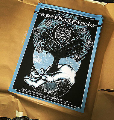 A Perfect Circle APC Concert Tour Poster San Antonio 4/26/2017 Texas Jamie Koala