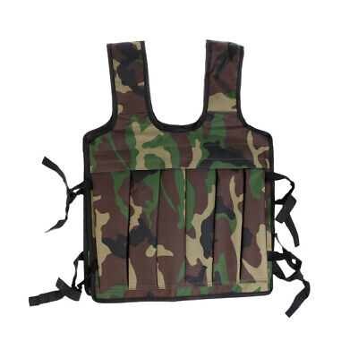 Adjustable Weighted Vest Workout Weight Loss Training Running Waistcoat Camo