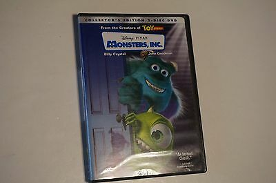 Disney Monsters, Inc (DVD,2002, 2-Disc, Collector's Edition) Mint Discs