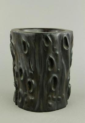 Chinese Zitan Carved Brush Pot