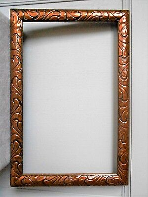 VINTAGE french Wood COPPER FRAME 1950's