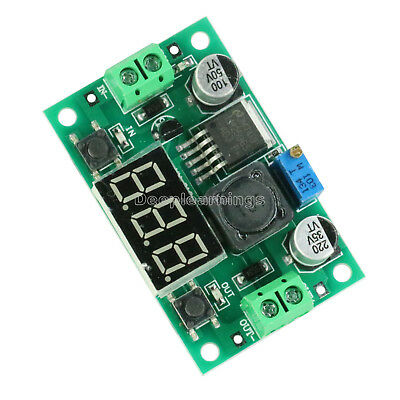 2PCS DC Buck Step Down Converter Module LM2596 Voltage Regulator Voltmeter Led