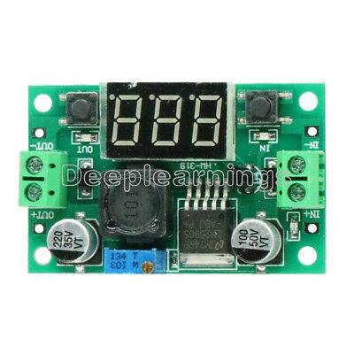 5 PCS DC Buck Step Down Converter Module LM2596 Voltage Regulator Voltmeter Led