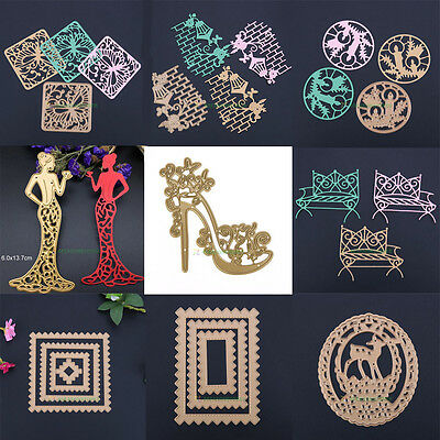 Golden Metal Cutting Dies Stencils Scrapbooking Album Paper Card Embossing Decor