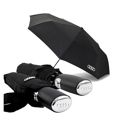 Audi Umbrella Automatic Folding Black Blue Windproof Auto Car Logo Anti UV Men's