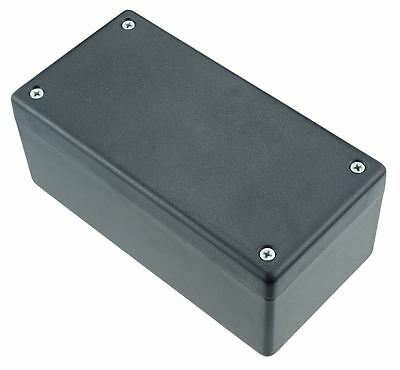 Hammond 1594DSBK Black Heavy Duty GPABS Enclosure 131 x 66 x 55mm